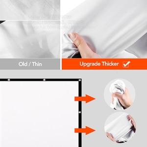 Image 4 - AUN zagęścić ekran projektora 100/120/133 cal 16:9 składany przenośny biała tkanina materiał dla 4K Full HD kina domowego