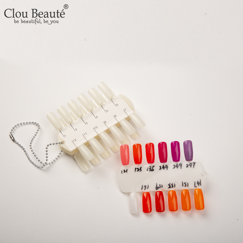 Clou Beaute 24 Colors Professional Nail Practice Varnish Gel Display  DIY Nail Color Chart Pallete Manicure Blanks Nails Tools