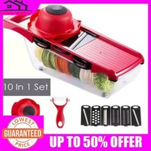 Kitchen Tools 10 in1 Mandoline Slicer Vegetable Grater Cutter With Stainless Steel Blade Accessories Gadget