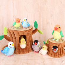 14cm קוקטייל בפלאש צעצועים רך אמיתי חיים Budgie Lovebird חיות פרווה צעצוע Budgerigar ציפורים ממולא צעצועי מתנות לילדים