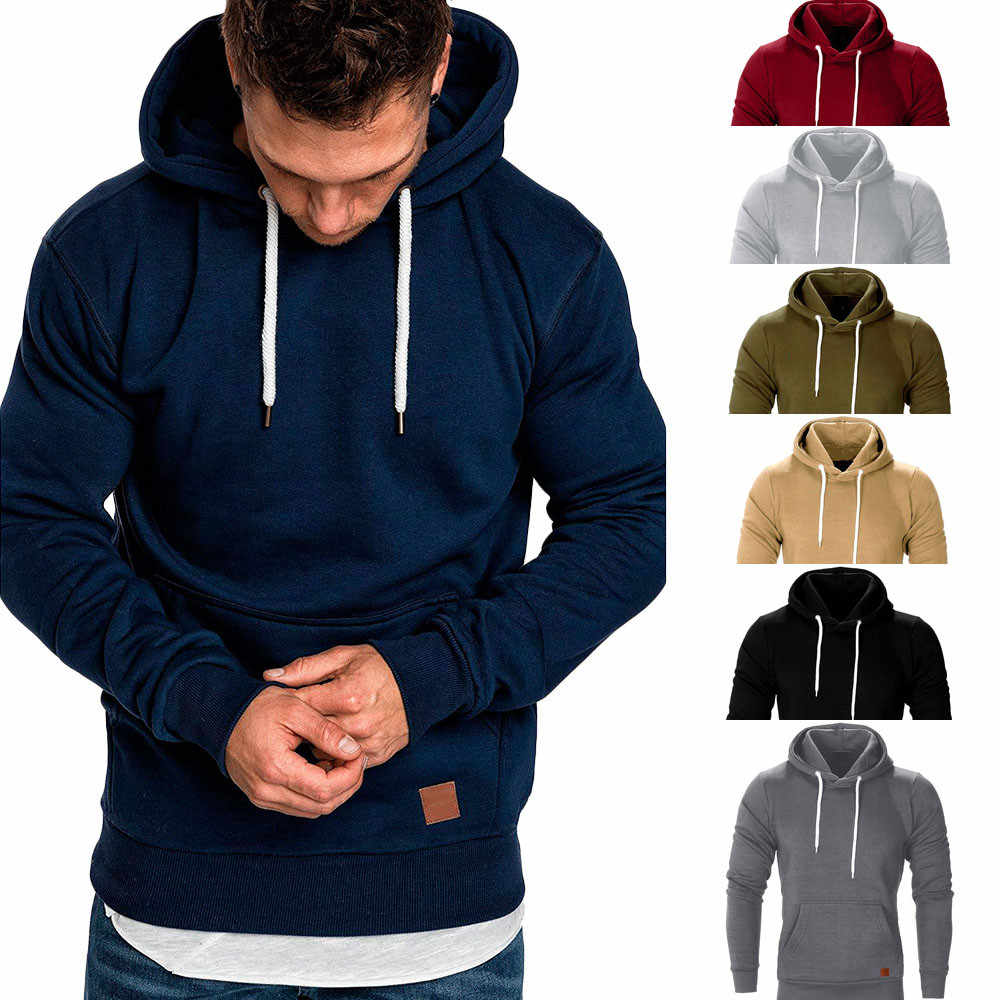 Men's Long Sleeve Autumn Winter Casual Sweatshirt Hoodies Top Blouse Tracksuits high quality Sweatshirts#