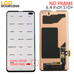 Image 4 - Pantalla LCD Amoled para teléfono móvil SAMSUNG MONTAJE DE digitalizador con pantalla táctil, para Galaxy S10, G973F, G973FD, S10 + Plus, G975F, G975FD