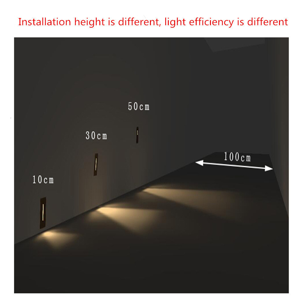 1W LED Stairs Wall Lamp DC220V Step Lamp Pathway Wall Corner Lamps Lighting Stairs Decoration Lights With Cree Chip CE (4)