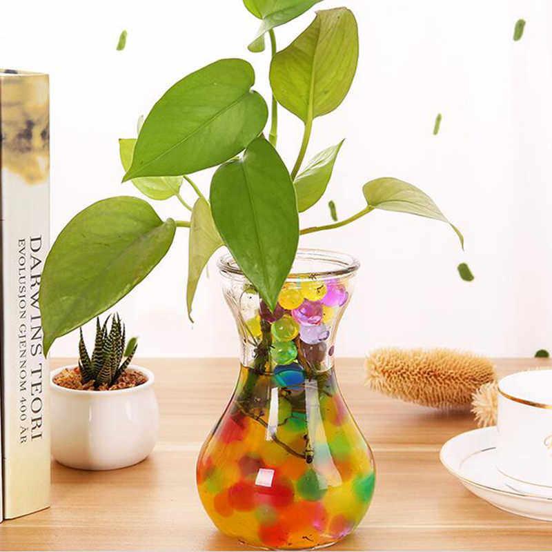 200 Pcs Veelkleurige Kristal Bodem Plant Bloem Jelly Mud Water Kralen Voor Planten Parels Vaas Bodem Gel Ballen Home Decoratie