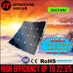 High Efficiency bendable sunpower  50W 12V flexible solar panel for home boat roof car and other applications