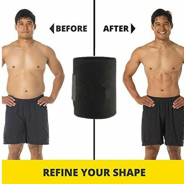 Durable Polyester Fiber Black Gym Waist Protection Sweat Belt Sport Belt Yoga Fitness Equipment Marvellous Waist Trimmer 2