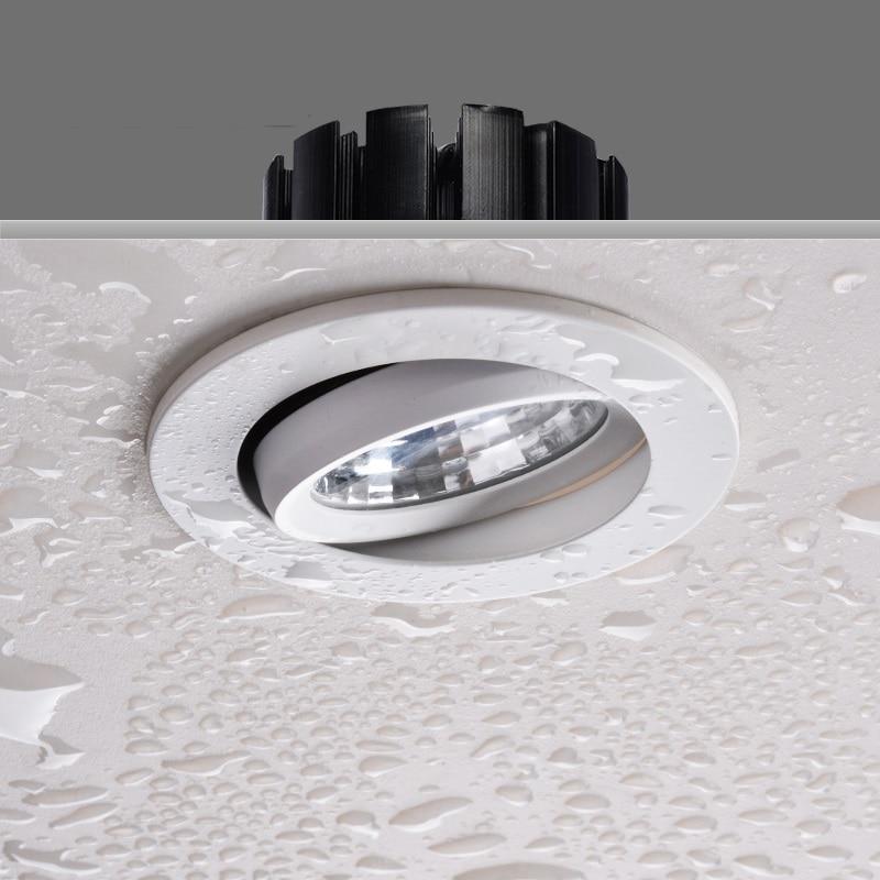 LukLoy IP54 Водонепроницаемый Ванная комната встроенный светильник кухня Анти туман прожектор 7 Вт Скрытый точечный свет бассейн вниз свет