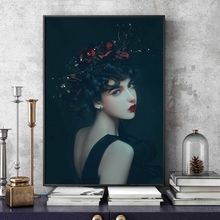 Modern Beautiful Girl Figure Decoration Pictures On The Wall Canvas Painting For Living Room