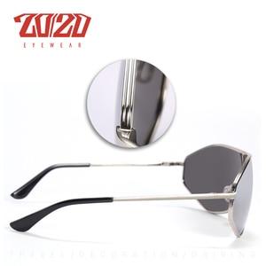 Image 4 - 20/20 New Arrival Vintage Brand Alloy Polarized Sunglasses Men Gradient Oversize Lens For Women Design AK17157