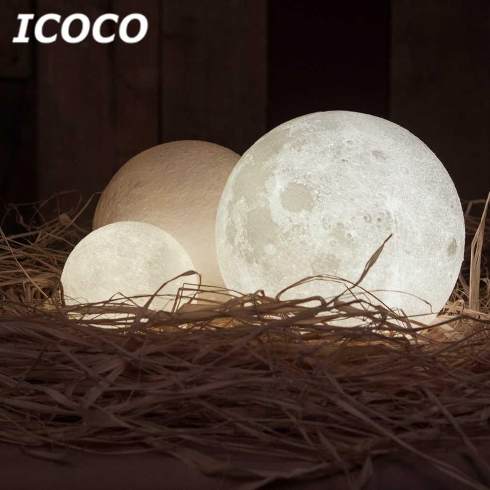 ICOCO 3D принт луна лампа светодиодный лунный сенсорное управление ночник настольная лампа для домашнего декора Прямая доставка горячая распродажа