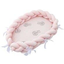 Портативное детское гнездо, хлопковая бионическая кровать, моющаяся тканевая детская кровать для путешествий, кроватки с бампером, матрас для новорожденных