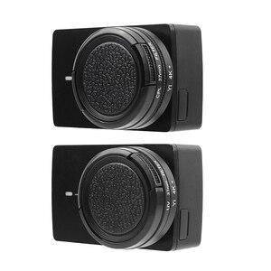 Image 2 - UV CPL Lens filtre + koruyucu alüminyum çerçeve kılıf + Lens kapağı için Xiaomi Yi 4K Lite eylem kamera Lens aksesuarları yüksek kalite