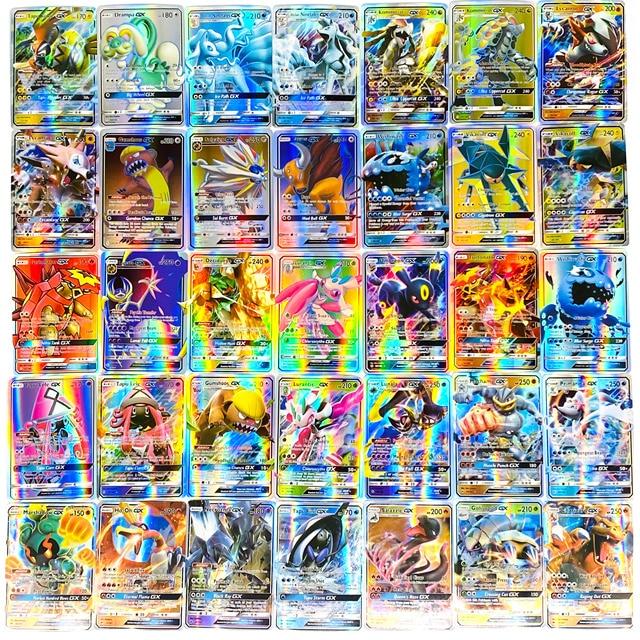 2020 New 60/100/200/300 Pcs Pokemones card Vmax card GX tag team EX Mega shinny card Game Battle Carte Trading Children Toy
