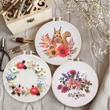 Kit de bordado com círculo para matar tempo, bordado de bordado, kits de ponto cruz, bordado para iniciantes, arte diy costura artesanal cd