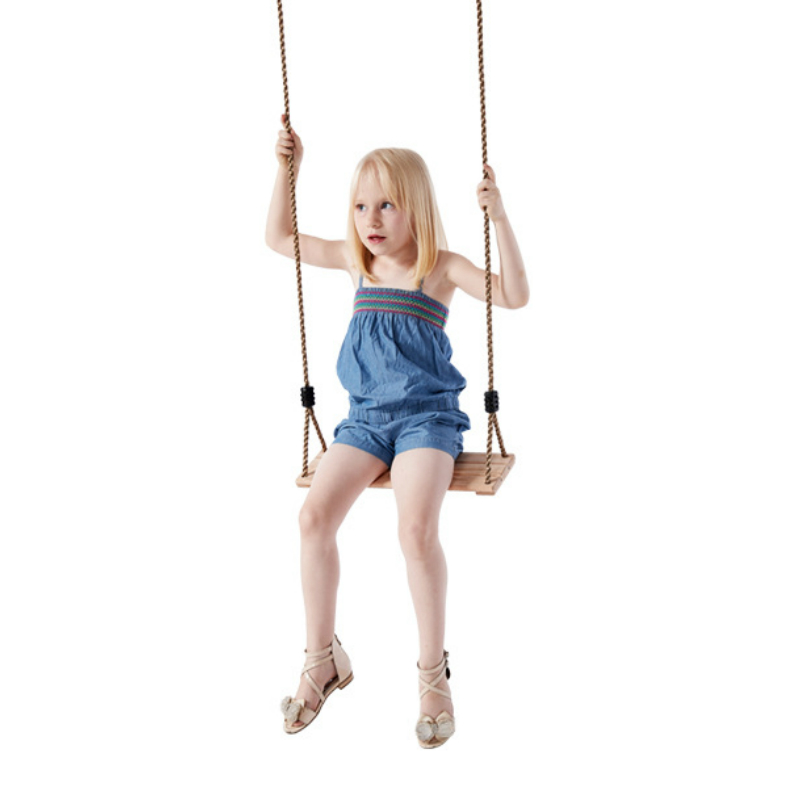 Child Outdoor Garden Tree Swing Rope Seat For Kids Swings Rocking Chair Wooden Board Hanging Kindergarten Playground Baby Toys