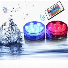 Лампа для бассейна с пультом дистанционного управления RGB погружной светильник прочный светодиодный портативный подводный ночник