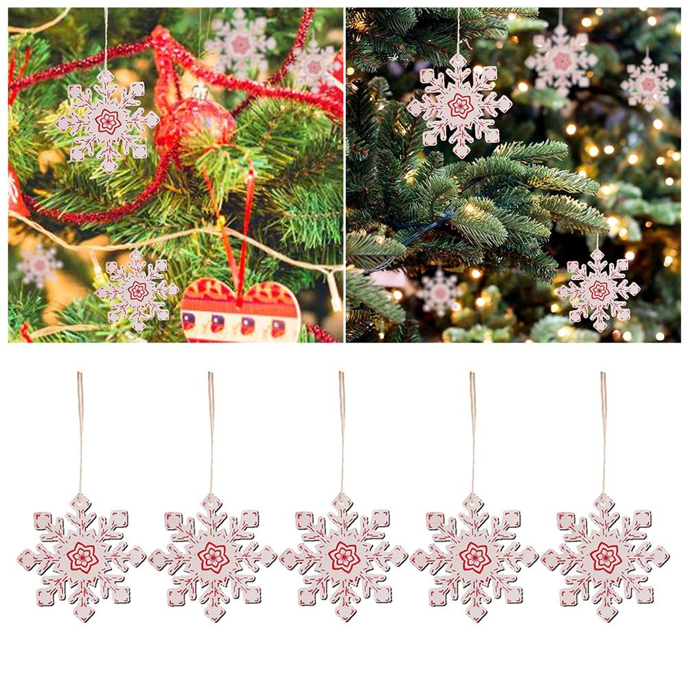 Lots 10PCS Christmas Snowflake Ornaments Holiday Party White Xmas Decor