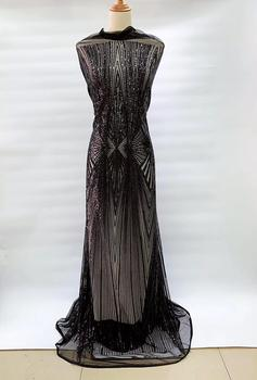Burnt Navy Blue Lace Fabric, Nigeria Wedding Lace 2019, Fine Lace Evening Dresses Materials, 5 Yrds Lot Qaullity Lace Fabric FJ9