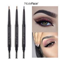 Women eyebrow pencil Brown beauty slim cosmetics make up Natural Long Lasting Waterproof Paint Tattoo Eyebrow Pencil thin brush