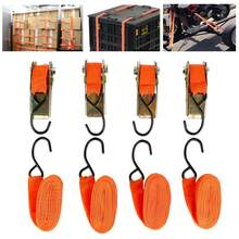 4 pièces durables à cliquet attacher les sangles de cargaison déplacer le camion de transport moto ceintures de tension accessoires intérieurs