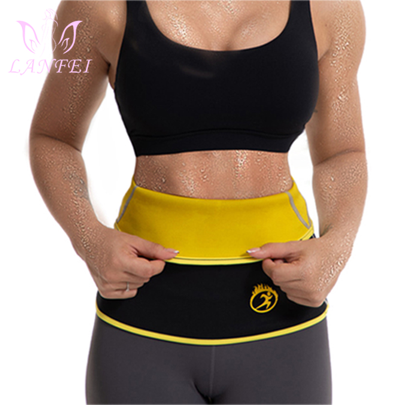 LANFEI Waist Trainer Cincher Belts Girdle Modeling Body Shaper For Women Slimming Corset Tight Neoprene Sauna Sweat Band Strap