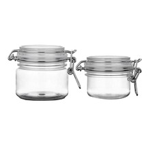 Round Clear Pet Plastic Latch Lid Air Tight Sealed Cosmetic Bottle Jars Makeup Facial Body Mask Cream Lotion Food Storage Hermet(China)