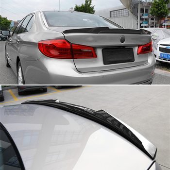 Use For BMW 5 Series G30 Spoiler 2018--2020 Year Real Glossy Carbon Fiber Rear Wing M4 Style Sport Accessories Body Kit image