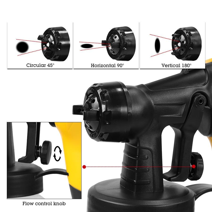 Tools : Portable Electric Spray Paint Sprayers Gun Cake Chocolate Spray Gun High Pressure Detachable Airbrush