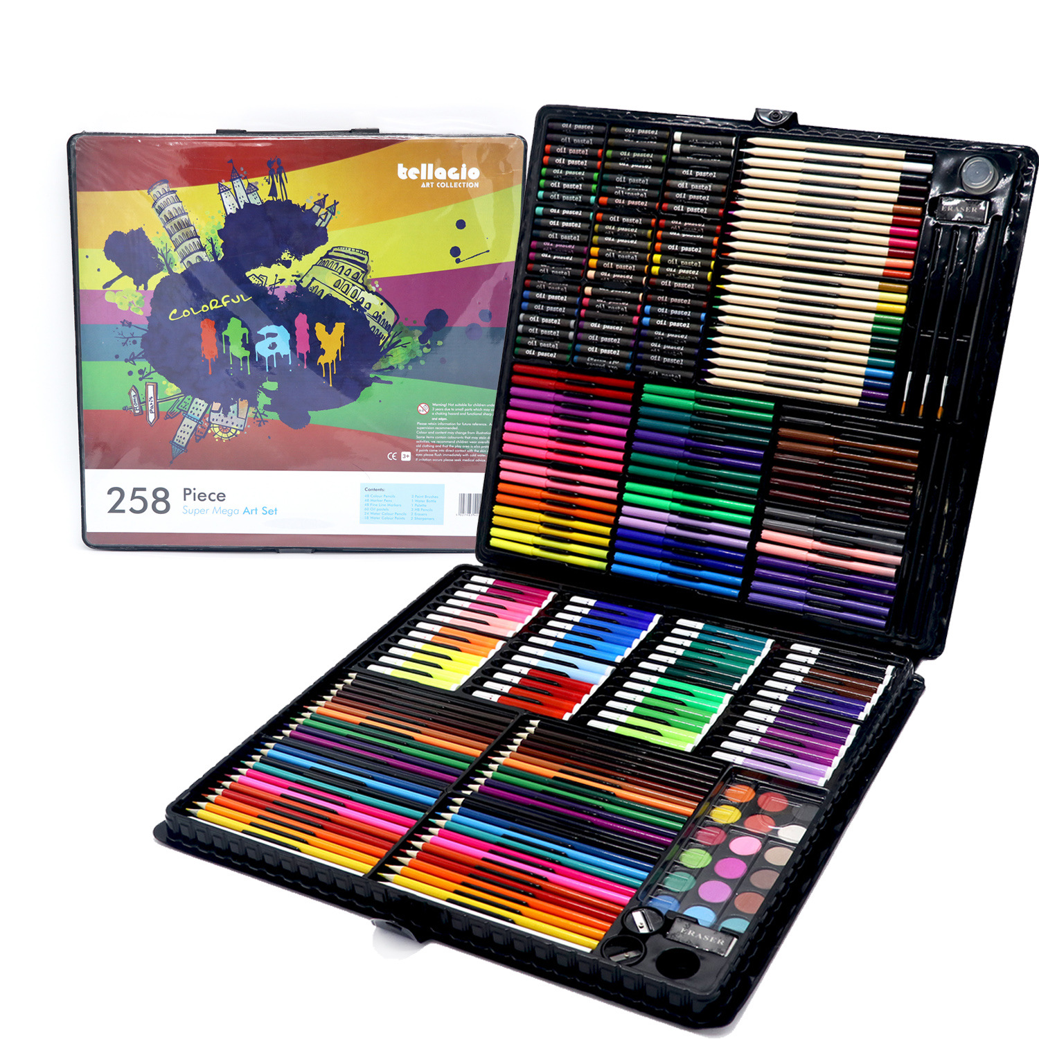 Young STUDENT'S Fine Art Painted Gift Box School Season Gift 258-Piece Gift Packs Brush Gift