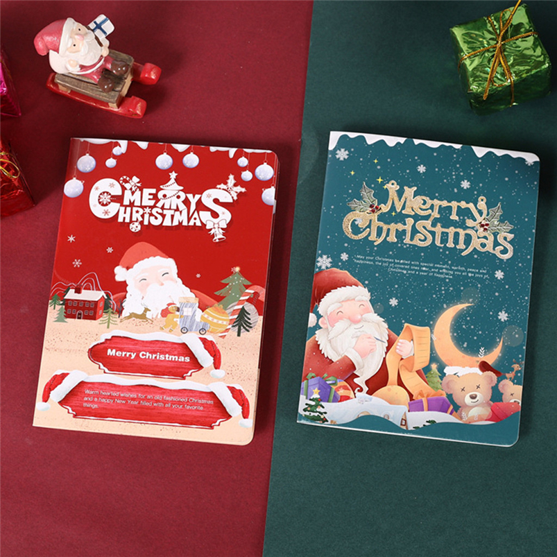 Christmas Card Set Santa Claus Elk Snowman Diamond Painting DIY Holiday Card 30 x 15 x 2cm Merry Christmas Navidad 40OCT714