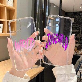 Juice wreld Lucid Dream-funda trasera transparente para iPhone 11 Pro Max X...