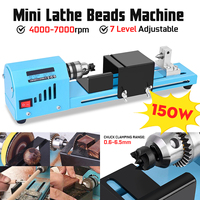 DC12 24V 150W Mini Lathe Beads Machine Woodworking DIY Lathe Standard Set Wood Lathe Standard