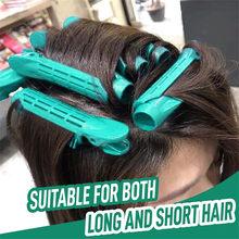 6PCS Haar Curler Clip Selbst Grip Volumen Haar Curler Clip Natürlich Flauschigen Lockiges Haar Styling Durchführung Haar Styling Rollen #40