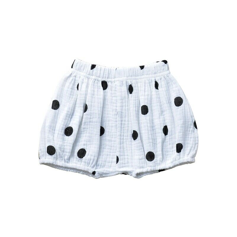 blue dotted shorts