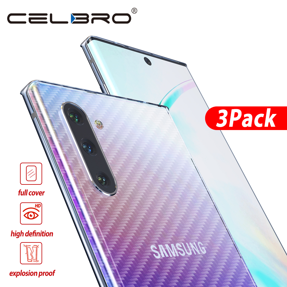 Back Screen Protector for Samsung Galaxy Note 10 10+ Carbon Fiber Sticker for Samsung Note10+ Note 10 Pro Protective Film Cover-in Phone Screen Protectors from Cellphones & Telecommunications