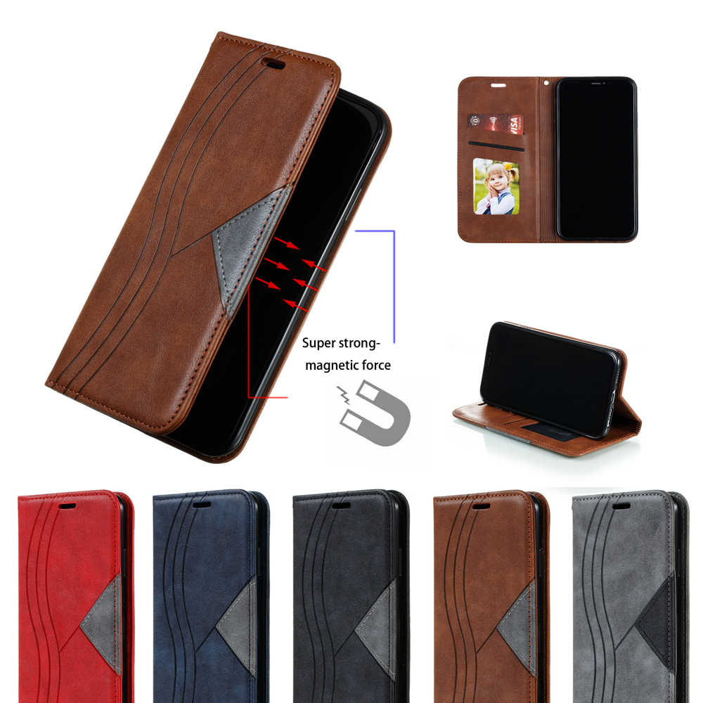 Untuk Samsung Galaxy Note 8 10 Note8 Note9 Note10 Plus Pro 5G M10 Magnetic Case Kulit Flip Dompet Stand penutup Kasus