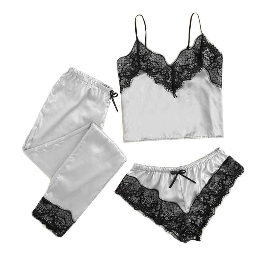 3PCS Vrouwen Kant Patchwork Badmode Zomer Strand Casual Satin Zwemmen Bikini Sets Vrouwelijke Draadloze Bikini Badpakken Sexy Biquinis