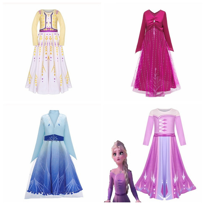 Snow queen cosplay <font><b>Frozen</b></font> <font><b>2</b></font> princess elsa and <font><b>anna</b></font> a variety of styles for girls and a variety of <font><b>wigs</b></font> halloween party costume image
