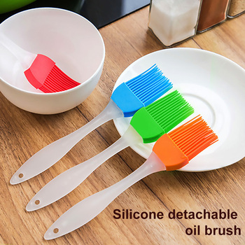 Hot Sale 1PC Silicone Basting Brush Clear Handle Heat Resistant Pastry Pancake BBQ Oil Brush Butter Baking Tool image