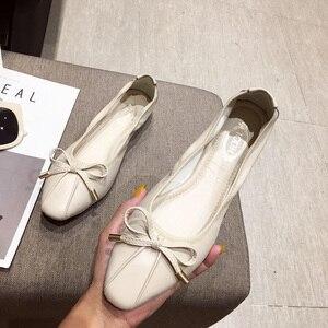 Image 3 - Giày Nữ Sapato Feminino2019 Giày Oxford Nữ Nữ Flat Giày Sang Trọng Nữ Nhà Thiết Kế Cho Nữ Ballerine Femme