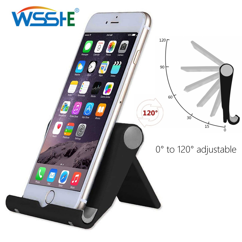 5 Colors Mobile Phone Desk Stand Foldable Phone Holder Tripod Plastic Adjustable Universal Phone Table Holder Stand Non-slip