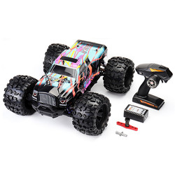 1:8 4WD 2.4G Remote Control RC Car Brushless Big Foot High Speed 90km/h Drift Vehicle Models Truck Metal Chassis