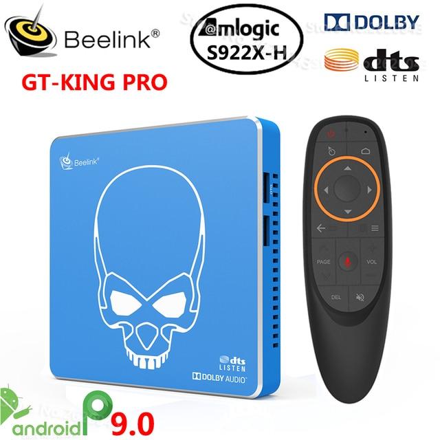 Beelink GT-KING PRO Amlogic S922X-H Smart Android 9,0 TV Box 4GB DDR4 64GB ROM Dolby Audio DTS escucha 4K HD alta fidelidad reproductor de medios