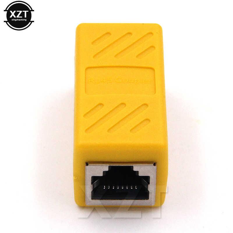 RJ45 Konektor Perempuan untuk Perempuan Ethernet CAT6 Coupler Cat7 Cat5e Jaringan LAN Kabel RG45 UTP Inline Konektor Extender Adaptor