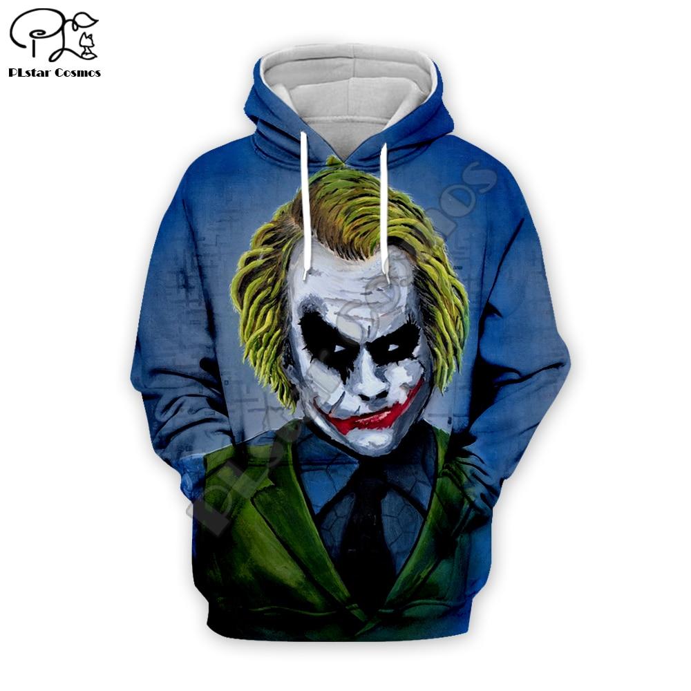 Funny hahaha Joker 3D décontractées à fermeture éclair Sweat à Capuche Veste Hommes Femmes à Capuche Zipper Manteau