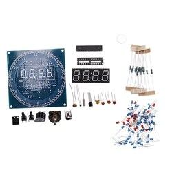 Obrotowy DS1302 cyfrowy moduł wyświetlacza LED Alarm elektroniczny zegar cyfrowy wyświetlacz LED temperatury zestaw DIY płytka edukacyjna 5V nowość w Akcesoria systemowe od Elektronika użytkowa na