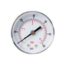 0-60psi 0-4bar осевой манометр барометр Циферблат Манометр 1/8 BSPT для воздуха, воды, нефти, газа 07