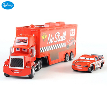 Disney Pixar Cars 3 Lightning McQueen Jackson Storm Ten Letter Horse Mac Uncle Truck Model Toy Children Gift image