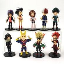9 peças meu herói academia figuras izuku midoriya todoroki shoto bakugo katsuki todos os poderes ochaco eijiro anime modelo brinquedos