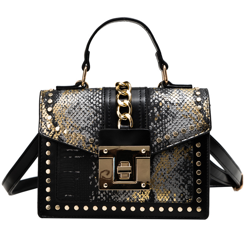 2020 Women's Shoulder Bags Casual New Leather Strap Flap Chain Crocodile Totes Top-handle Handbags Crossbody Bags Fashion Ladies